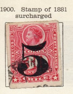 Chile 1900 Early Issue Fine Used 5c. Surcharged NW-11412