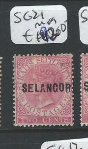 MALAYA SELANGOR (P0510B) 2C QV  SG21   MOG