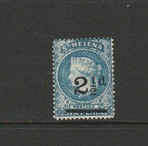 St Helena 1884/94 2 1/2d Opt MM SG 40