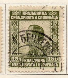 Yugoslavia 1924 Early Issue Fine Used 15d. 129584
