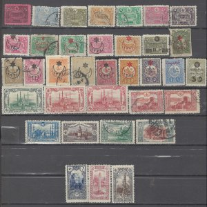 COLLECTION LOT # 2964 TURKEY 35 STAMPS 1913+ CLEARANCE CV+$21