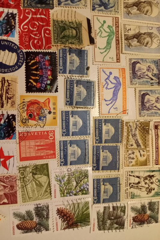 WW lot Mix 90+ Used stamps