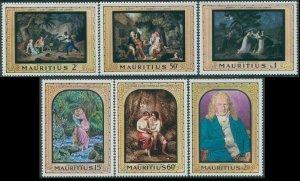 Mauritius 1968 SG376-381 Paintings set MNH