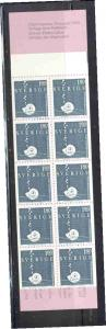 Sweden Sc 1468a 1983 Snail stamp booklet mint NH