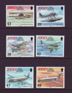 Jersey Sc 1063-8 2003 Airplanes stamp set mint NH