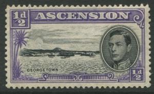 ASCENSION- Scott 40 - KGVI Definitive -1938 - MNG - Single 1/2d Stamp
