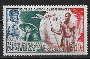 1949 New Caledonia C24 UPU 75th Anniv. Issue 10F MNH