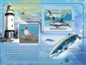 Guinea-Bissau - Whales & Sea Birds Stamp Souvenir Sheet - GB8214b