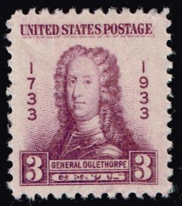 US STAMP #726 1933 3¢ Georgia Bicentennial  MNH/OG XFS SUPERB