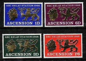 Ascension-Sc#111-14- id7-unused hinged set-BBC-1967-
