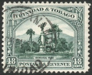 TRINIDAD & TOBAGO-1935-37 48c Deep Green Sg 237 FINE USED V46173