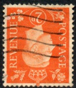 1938 Sg 465Wi 2d Orange Inverted Watermark Good Used