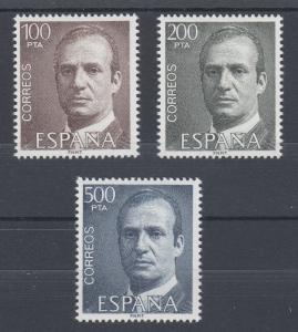 Spain Sc 2268-2270 MNH. 1981 King Juan Carlos, complete set, VF