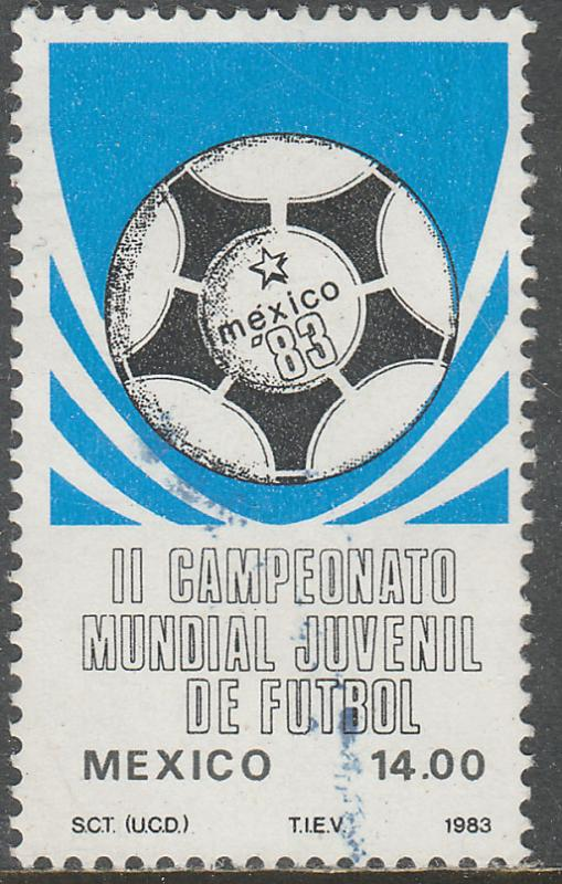 MEXICO 1317 2nd World Youth Soccer Championships Used (1002)