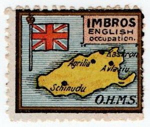 (I.B) Turkey (Great War) Cinderella : Imbros Island (Delandre)
