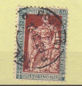 J29699, 1928  italy used #203 duke of savoy