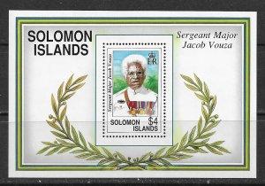 Solomon Islands ~ Scott # 722 ~ MNH ~ Sgt. Major Jacob Vouza