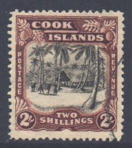 Cook Islands Scott 113 - SG128, 1938 George VI 2/- used