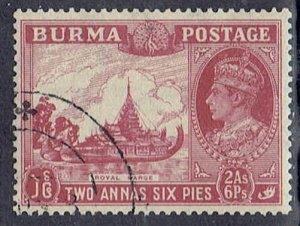 Burma, Scott #25; 2a6p King George VI, Used