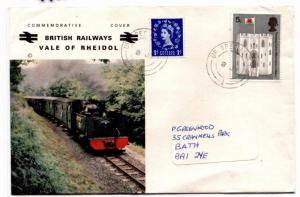 GG227 1960s GB WALES Vale of Rheidol RAILWAY Letter Cover