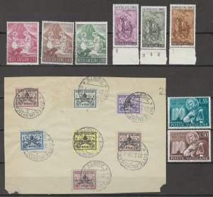 COLLECTION LOT # 3818 VATICAN 15 STAMPS 1939+ CV+$15
