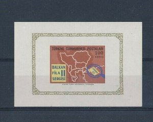 D202906 Map S/S MNH Turkey Imperforate