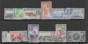 Barbados 216-27  1950  set 12  VF  used