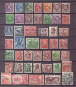 Australia 1941-1951 (Lot Of 45) MH & Used QE II Editions F-VF