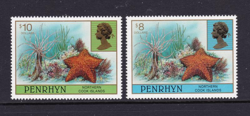 Penrhyn x 2 modern high values MNH