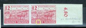 Gemany Provinz Sachsen 86 Plate Flaw