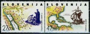 HERRICKSTAMP SLOVENIA Sc.# 137 Discovery of America