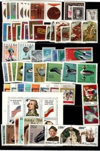 Poland small collection of Mint NH sets (Catalog Value $28.15)
