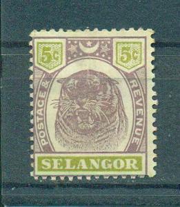 Malaya - Selangor sc# 30 (2) mh cat value $8.50