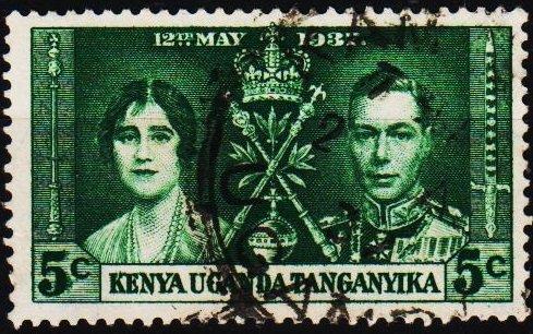 K.U.T. 1937 5c S.G.128 Fine Used