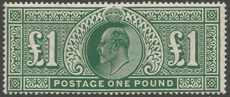1911 SG320 Somerset House £1 deep green superb unmounted mint cat val £3000