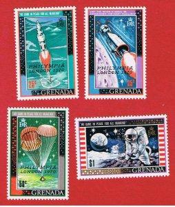 Grenada #379-382 MNH OG  Overprints Free S/H