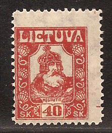 Lithuania  #  101  Mint