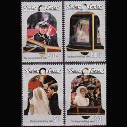 St. Lucia MNH 846-9 Wedding Of Prince Andrew & Sarah Ferguson SCV 3.25