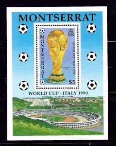 Montserrat 752 MNH 1990 Soccer  S/S