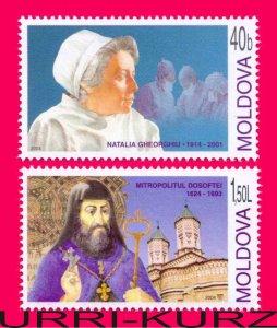 MOLDOVA 2004 Famous People Medicine Religion Doctor & Educator Metropolitan 2v