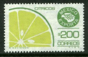 MEXICO Exporta 1584a, $200P Citrus Unwmk Thin Paper 3 MINT, NH. VF.