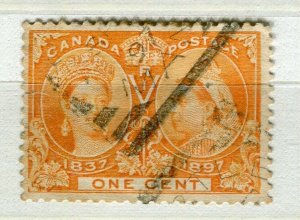 CANADA; 1897 early QV Jubilee issue fine used 1c. value