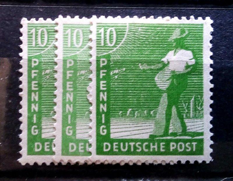 Germany Allied Occupation Mi 946 abc mnh