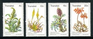 SOUTH AFRICA TRANSKEI 1977 MEDICINAL PLANTS Set Scott No. 24-27 MNH