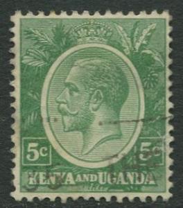 Kenya & Uganda - Scott 20 - KGV Definitive -1922 - Used- Single 5c Stamp