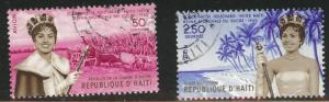 Haiti  Scott C161-162 Used set