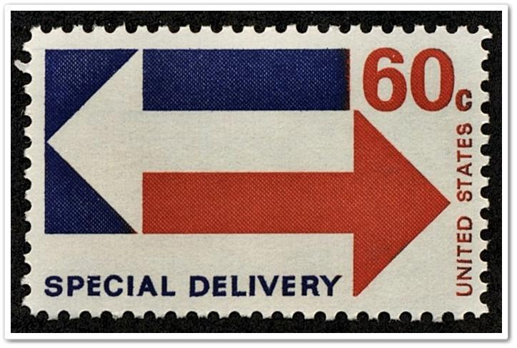 SC#E23 60¢ Special Delivery (1971) MNH