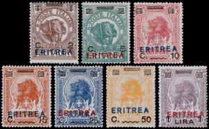 Eritrea Scott 81-87 (1924) Mint LH VF Complete Set, CV $82.50 B