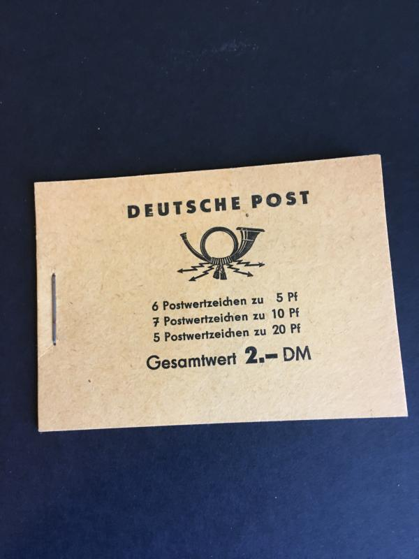 Germany DDR 1959 2DM Complete Bklet With Panes (330c,333a&477b) Cat. $15.AsPanes