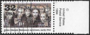 US 2981e Used - World War II 1945 - Allies Liberate Holocaust Survivors